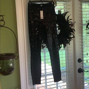 BB Dakota black sequin pants